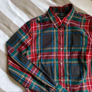 J. Crew Tops - J Crew Perfect Button Up in Stewart Plaid